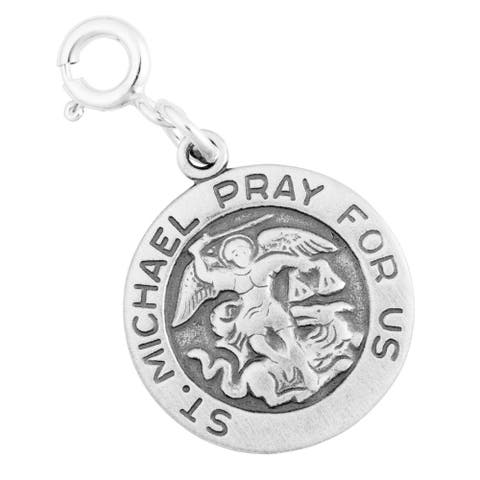 Sterling Silver St Michael Pray For Us Charm