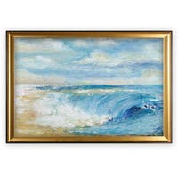 The Perfect Wave - Gold Frame