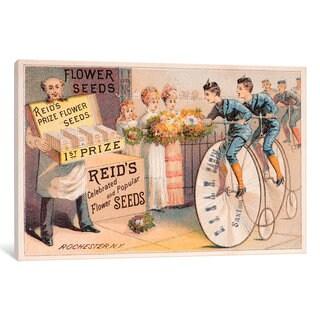iCanvas Reid's Prize Flower Seeds Advertisement by New York Botanical Garden Canvas Print
