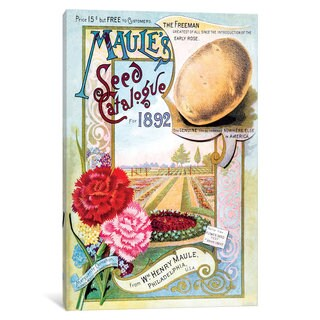 iCanvas Maule's Seed Catalogue Cover Art, 1892 by New York Botanical Garden Canvas Print