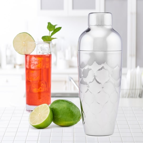 Avante Embossed Stainless Steel Cocktail Shaker, 30 Oz.. Opens flyout.