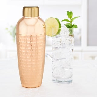 Aura Hammered Copper Cocktail Shaker, 30 Oz.