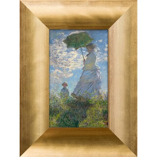 Claude Monet 'Madame Monet and Her Son' Pre-Framed Miniature Print on Canvas