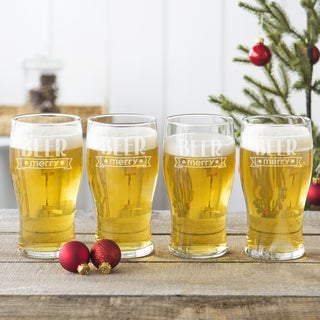 19 oz. Beer Merry Pilsner Glasses