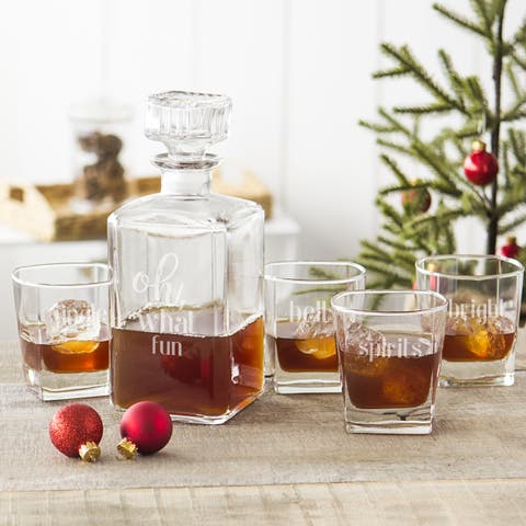 Oh What Fun 5 pc. Decanter Set