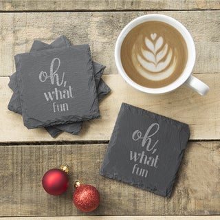 Oh What Fun Slate Coasters (Set of 4)