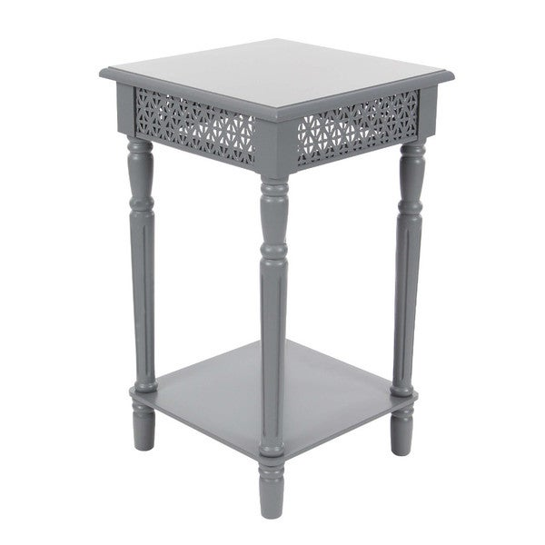 Astounding Benzara Simple But Elegant Grey Iron Wood Side Table Home Interior And Landscaping Ologienasavecom