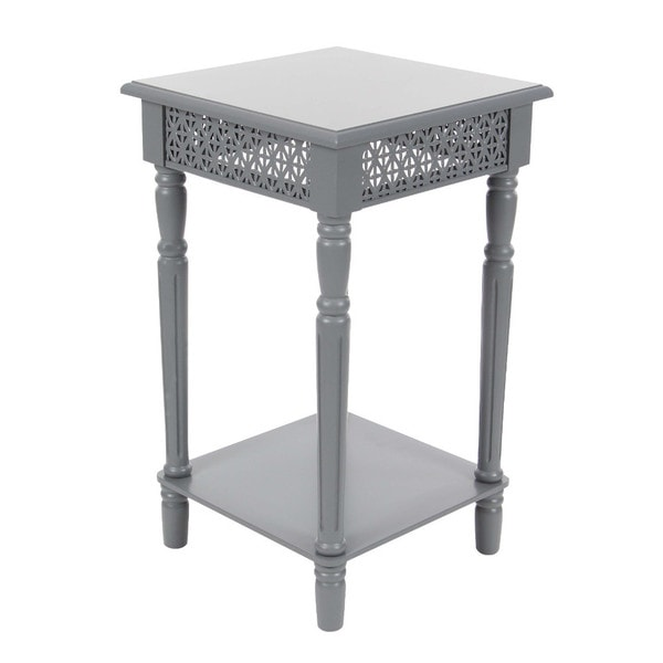 Brilliant Benzara Simple But Elegant Grey Iron Wood Side Table Interior Design Ideas Gentotryabchikinfo