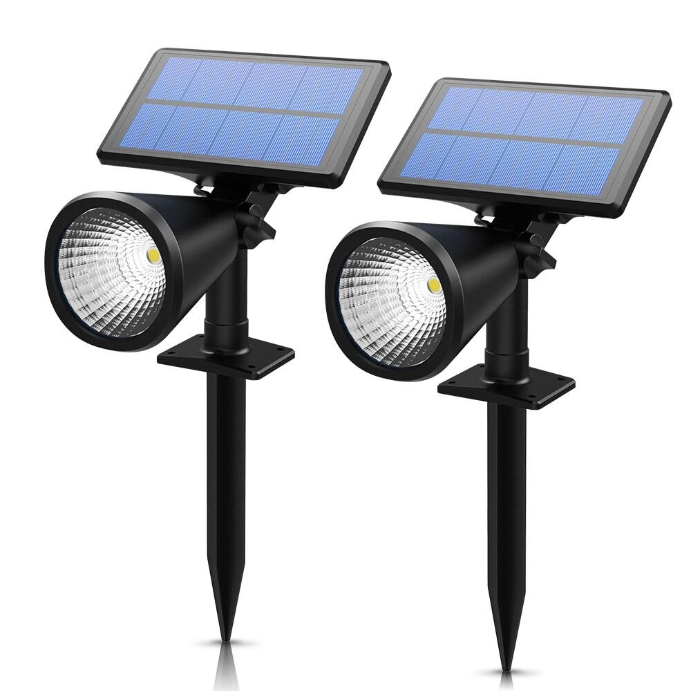 Solar Spotlight, 2-in-1 Solar Powered Outdoor Wall/In-gro...