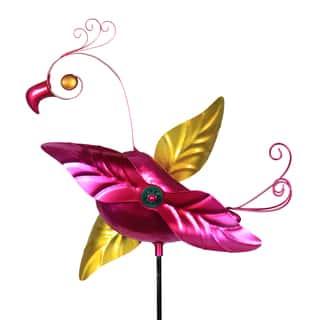 Metal Flamingo Whirligig Stake|https://ak1.ostkcdn.com/images/products/15391120/P21849523.jpg?impolicy=medium