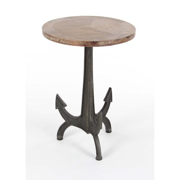 Lovely Benzara Resplendent Metal Wood Anchor Table