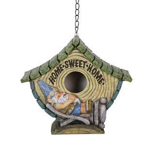 Sleeping Beach Bum Gnome Bird House