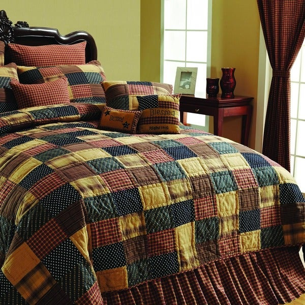Patriotic Patch Cotton Quilt (Shams Not Included)