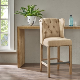 Madison Park Lydia Sand Tufted Wing Counter Stool