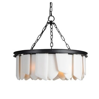 Y-Decor Black Metal and Glass 6-light Chandelier
