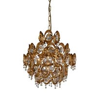 Y-Decor 4 Light Crystal Chandelier in Gold finish