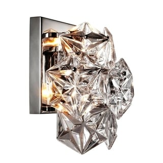 Y-Decor 1 Light Crystal Sconce