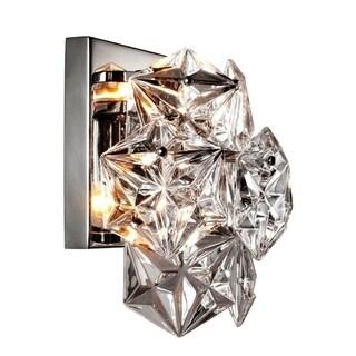 Y-Decor 1 Light Crystal Sconce