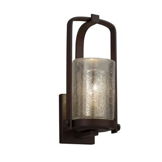 Justice Design Group Fusion Atlantic 1-light Dark Bronze Small Outdoor Wall Sconce, Mercury Cylinder - Flat Rim Shade