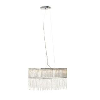 Benzara Glass Beaded Hanging Lamp