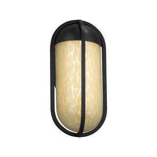 Justice Design Fusion Starboard Matte Black Small LED ADA Outdoor Wall Sconce