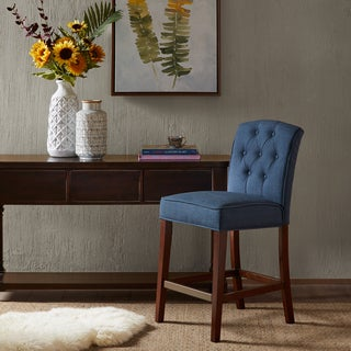 Madison Park Misha Navy Tufted Counter Stool