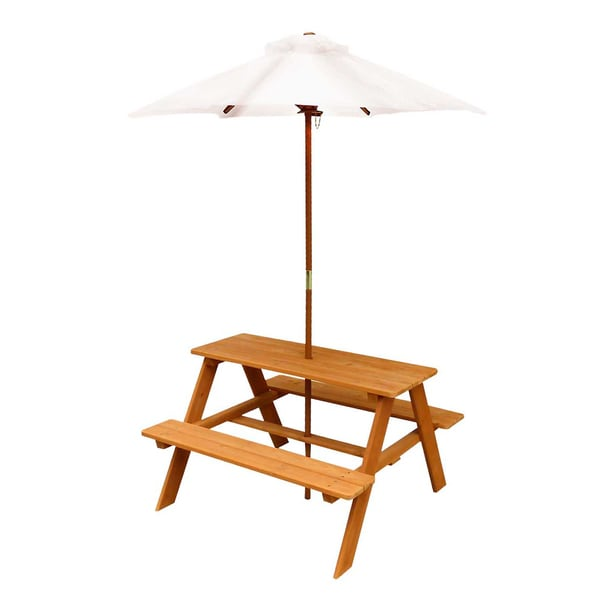 Outward Play Wooden Sunset Picnic Table with Umbrella