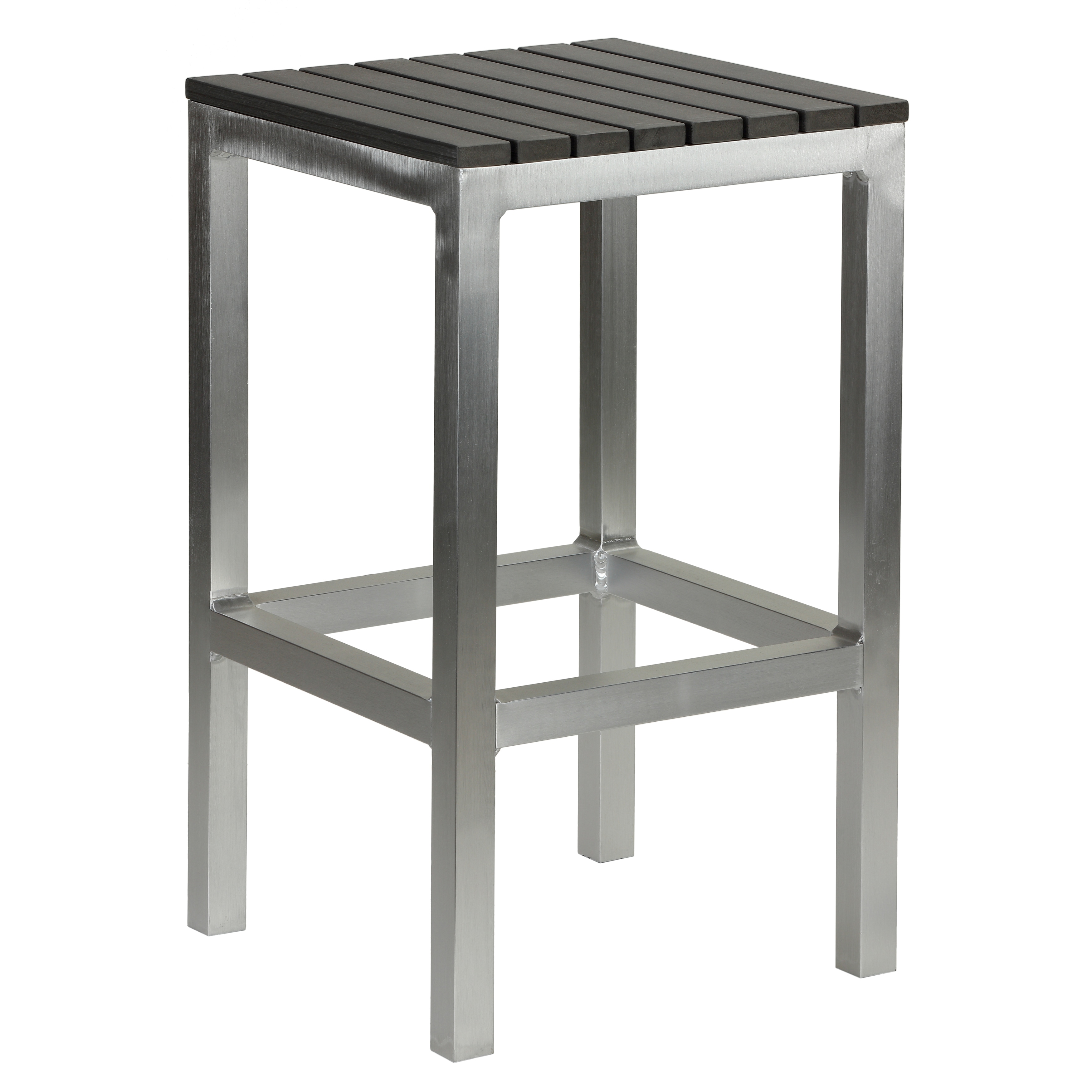 Wondrous Havenside Home Knotts Aluminum Slate Grey Poly Wood Outdoor Backless Counter Stool Andrewgaddart Wooden Chair Designs For Living Room Andrewgaddartcom