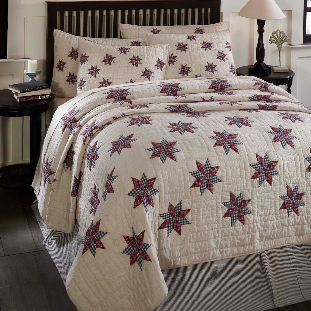 VHC Brands Lincoln Quilt (Shams Not Included) (Twin), Blu...
