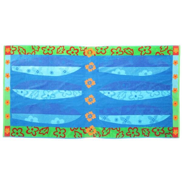 Panama Jack Beach Surf 40x70 Cotton Jacquard Beach Towel