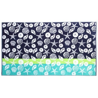 Panama Jack Beach Seashells 40x70 Cotton Jacquard Beach Towel
