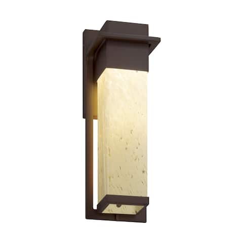 Justice Design Fusion Pacific Dark Bronze Outdoor Wall Sconce, Droplet Shade