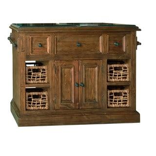 Hillsdale Furniture Oxford Finish Granite Top Kitchen Island with 2 Baskets