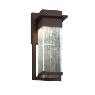 Justice Design Group Fusion Pacific Dark Bronze Small Outdoor Wall Sconce, Rain Shade