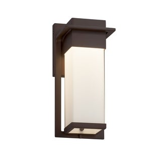 Justice Design Group Fusion Pacific Dark Bronze Small Outdoor Wall Sconce, Opal Shade
