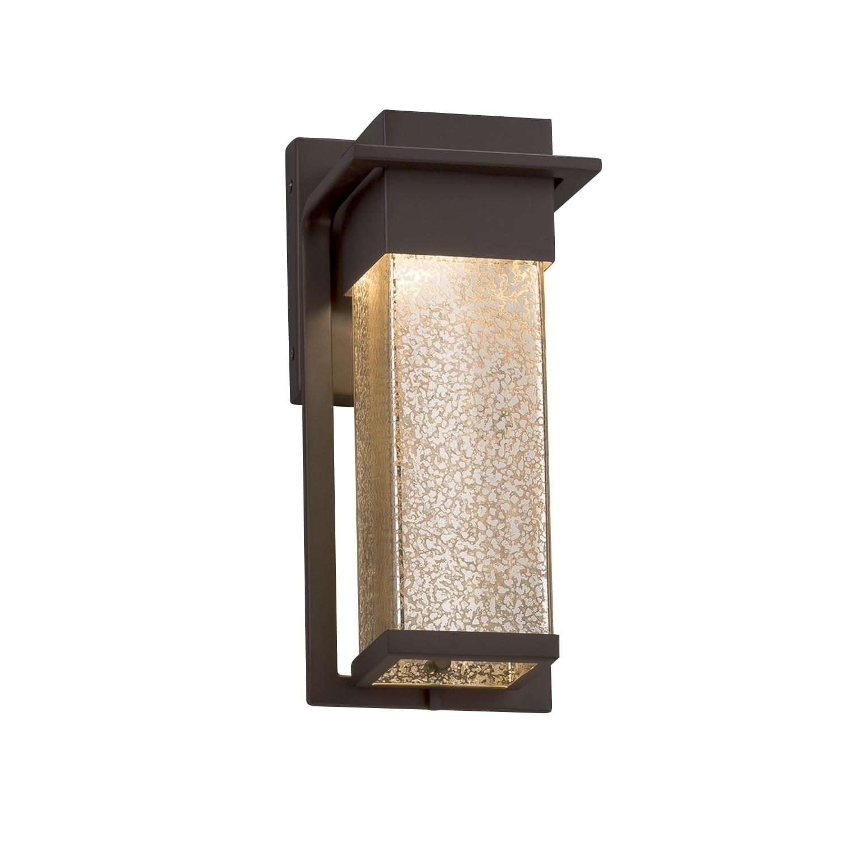 Justice Design Group Fusion Pacific Dark Bronze Small LED...
