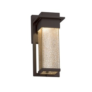 Justice Design Group Fusion Pacific Dark Bronze Small Outdoor Wall Sconce, Mercury Shade