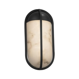 Justice Design LumenAria Starboard Matte Black Small LED ADA Outdoor Wall Sconce