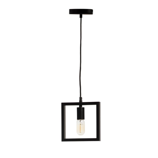 Geometric Shapes- Square Pendant Lamp- (includes vintage bulbs)