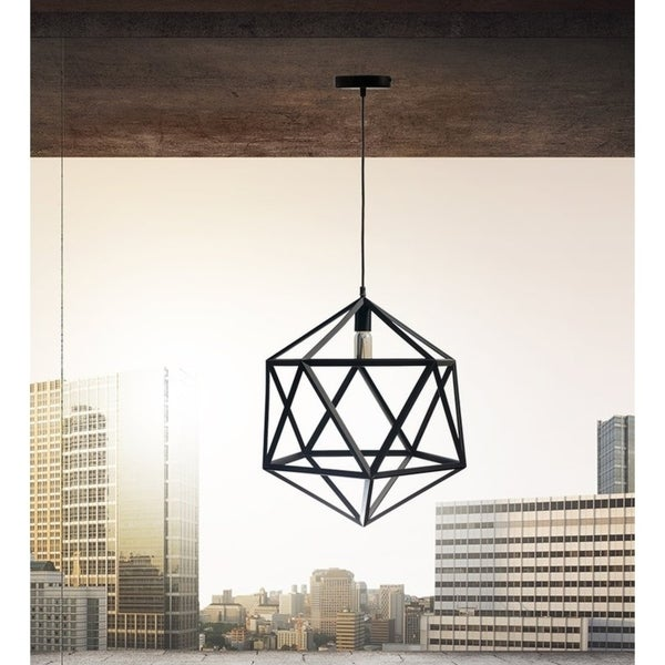 Geometric Shapes Large Pendant Lamp (includes vintage bulbs)