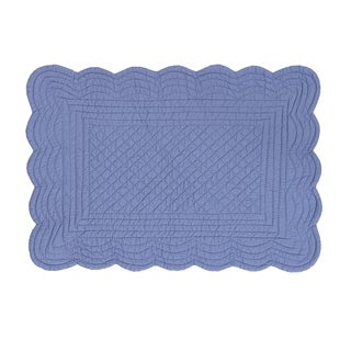 Periwinkle Quilted Reversible Placemat