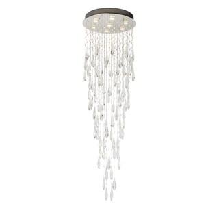 Finesse Lighting Floating Crystal Drops Flush Lamp