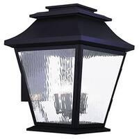Livex Lighting Hathaway Bronze Finish Water Glass Outdoor Wall Lantern