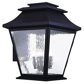 Livex Lighting Hathaway Bronze Finish Water Glass Outdoor Wall Lantern