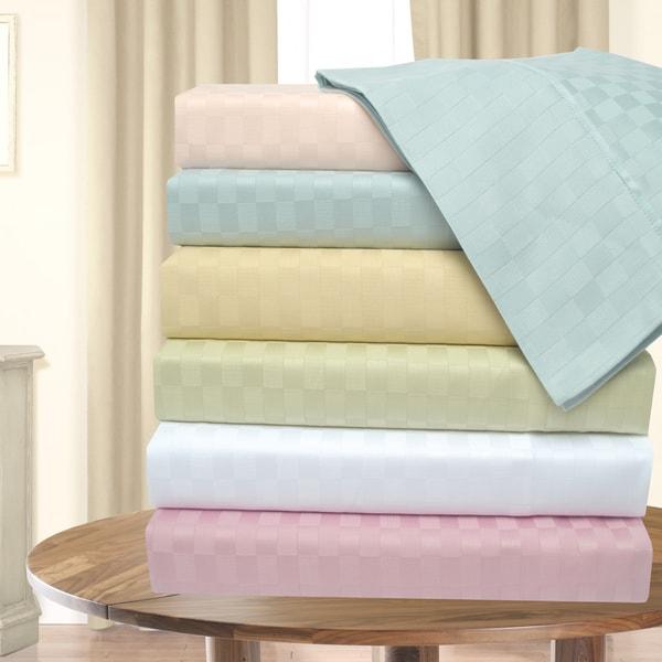 Superior 300 Thread Count Checkers Deep Pocket Cotton Sheet Set