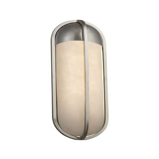 Justice Design Clouds Starboard Brushed Nickel Small LED ADA Outdoor Wall Sconce