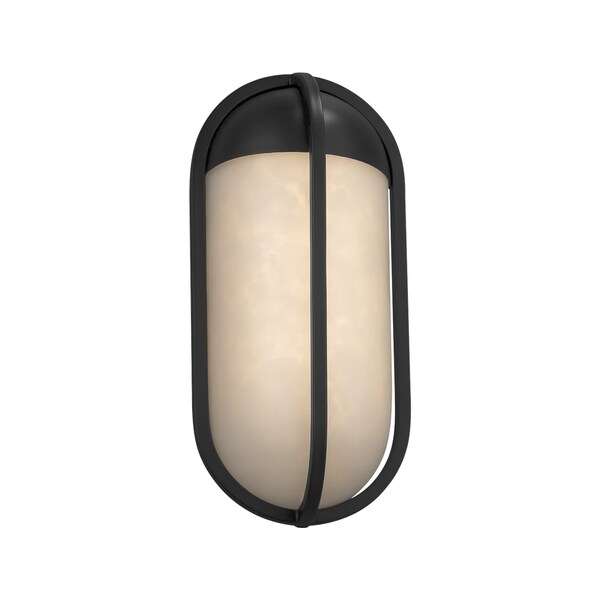 Justice Design Group Clouds Starboard Matte Black ADA Outdoor LED Small Wall Sconce