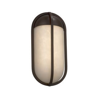 Justice Design Group Clouds Starboard Dark Bronze ADA Outdoor LED Small Wall Sconce