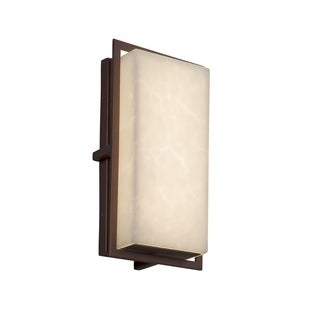 Justice Design Clouds Avalon Dark Bronze Small LED ADA Outdoor Wall Sconce