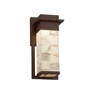Justice Design Alabaster Rocks! Pacific Dark Bronze Small LED Outdoor Wall Sconce